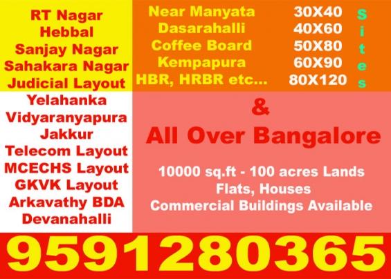 30x40 4 adjacent sites for sale in shridi sai layout near shoba city