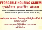 Sunrays Heights Sec 63A Golf Drive Affordable