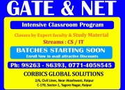 and NET GATEcoaching for CS and IT in Raipur