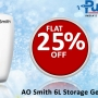 Get AO Smith 6L Storage Geyser Online - Shop at Pumpkart