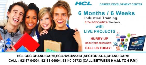 Six month/week training in chandigarh
