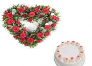 Send Valentine Bunch of Roses Online to Bangalore
