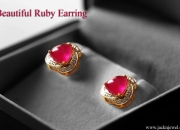 Stay glamorous with ruby & diamond stud