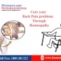 Back Pain Treatment Through Homeopathy At Homeocare