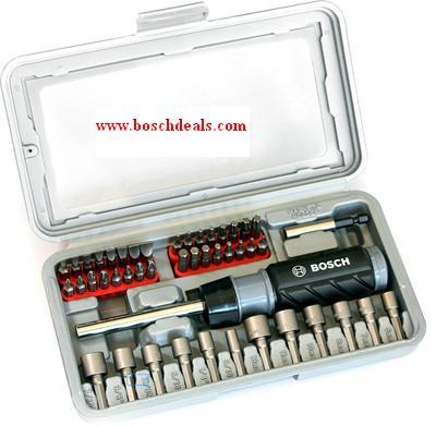 Bosch ratchet screwdriver set(pack of 46)