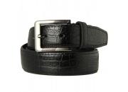 Fabulous black croc textured leather belt