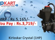Get the lowest prices on Kirloskar Crystal (1HP) online in India
