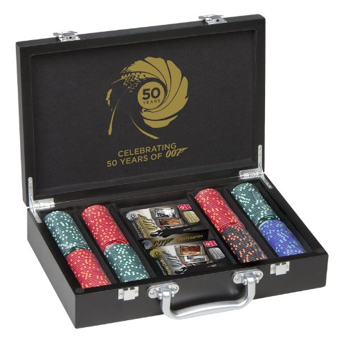 James bond james bond 200 poker set poker set black