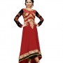Dynammic Orange  Net  Anarkali Salwar Kameez