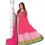Dashing  pink  georgette anarkali salwar kameez(diwalispecial3004)