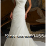 Designer christian white wedding gown