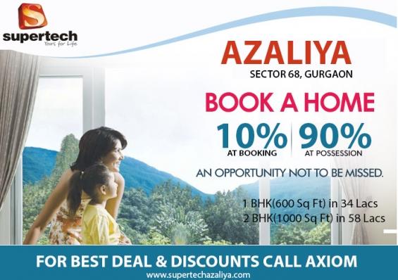 Supertech azaliya 2 bhk call @ 9250404177 semi luxury apartment in sector 68 gurgaon