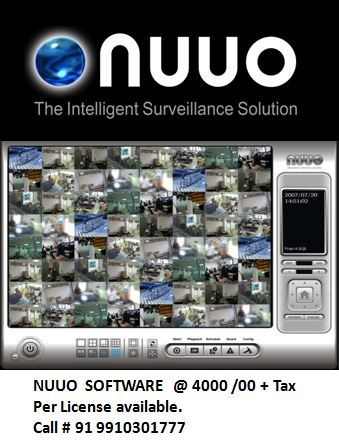 Nuuo software for sale 4000/00 per license call us 9910301777