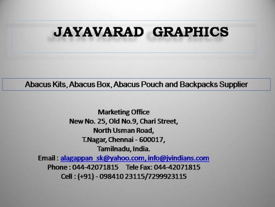 Abacus kits, abacus box, abacus pouch and backpacks supplier