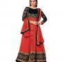 Lara dutta red embroidered anarkali salwar kameez(bridelara7005)