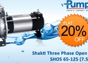 Buy Online Shakti Three Phase Open Well Pump SHOS 65-125 (7.5HP)