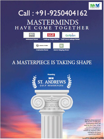 M3m st. andrews call @ 9250404162 new launch sector 65 gurgaon