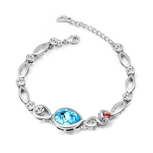 Swarovski blue designer bracelet for women by nevi
