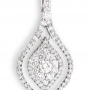 Rhombus Diamond Studded Gold Pendant by Uppergirdle EP-1264