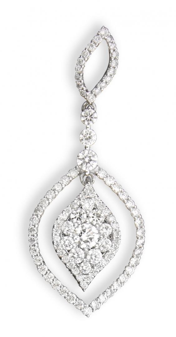 Rhombus diamond studded gold pendant by uppergirdle ep-1265