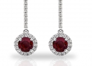 25% Discount Sale - Diamond & Ruby Earring at Wholesale Price on Holi