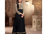 Fantasy Black Colored Georgette Designer Suit