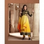 Fantasy Yellow & Black Colored Georgette Designer Suit