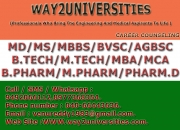 MBBS(Bachelor of Medicine,Bachelor of Surgery) ADMISSIONS - 2015