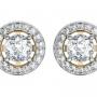 Diamond and Gold Earrings for Women
