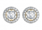 Diamond and gold earrings for women
