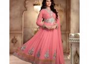 Fantasy Sweet Pink Colored Georgette Designer Suit