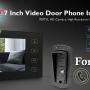 Home Security 2.4G Video Door Phone Intercom Doorbell Camera with 7