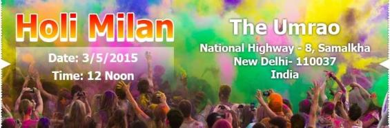 Holi milan new delhi | buy event tickets on kyazoonga