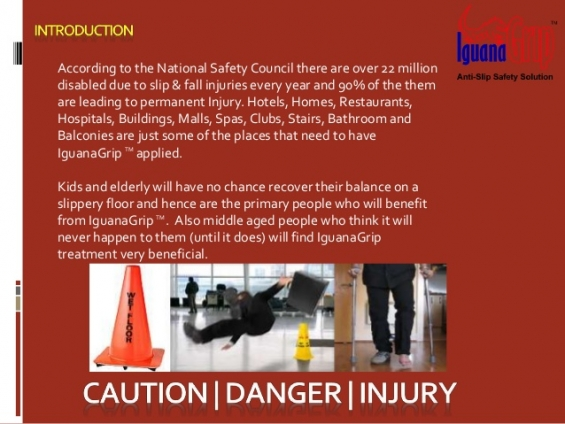 Iguanagrip anti slip safety solution