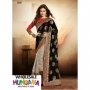 Arohi Black & Gray Colored Cotton Brasso Zari Embedded Saree