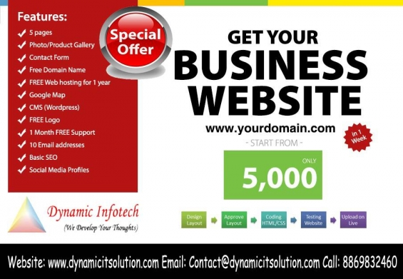 Design your website only rs. 5000