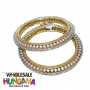 Golden Plated CZ Diamond Bangle - 2507