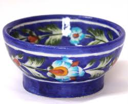We have a wide range of decorative and handmade blue pottery bowls.