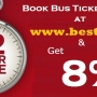 FLAT 72 Hours Sale… Get Up to 8% OFF  on Bus Tickets @ Bestbus.in