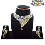 Peacock CZ Diamond Necklace with Earring - 2374