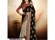 Arohi Black Colored Cotton Brasso Zari Embedded Saree
