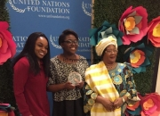 Joyce banda presents un award to girl up advocate…