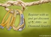 Register & get rs. 1000 discount on certified diamond jewelry