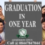 Degree in One Year, Graduation & Post Graduation in One Year,single sitting degree