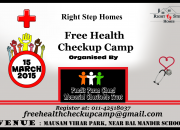 Right step free health checkup camp on 15 march 2…