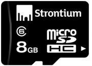 Lowest Price of Strontium 8GB MicroSDHC Memory Card in India