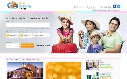 Readymade hotel booking script
