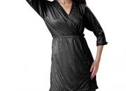 Hot 'N' Sweet Womens Satin Nightwear -Black -Free Size - 4 Pcs