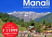 Book Manali holiday Package at just Rs 11,999/-Per Couple