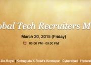 Global tech recruiter meet hyderabad - march 20, 2015